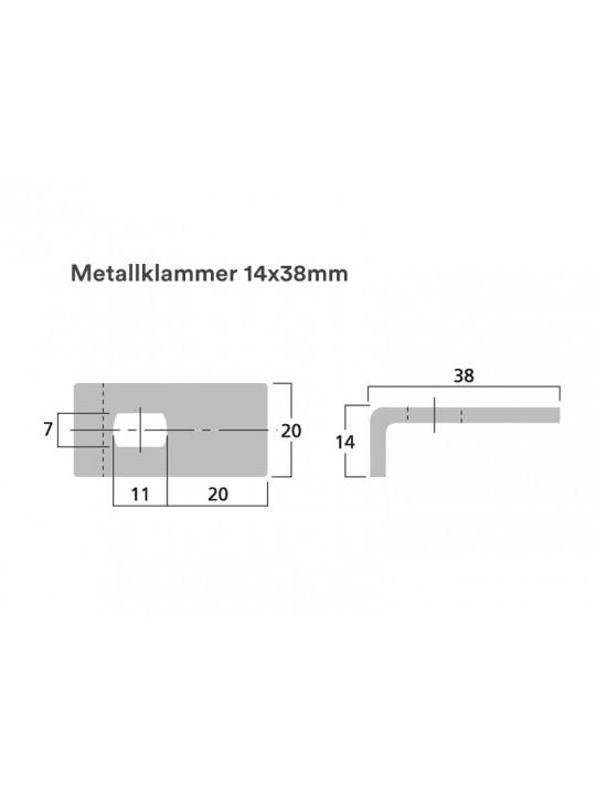 Metallklammer